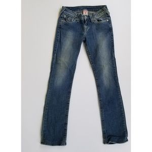 True Religion High Rise Straight Jeans 26